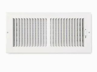 14 x 6 White Wall Registers set of 2