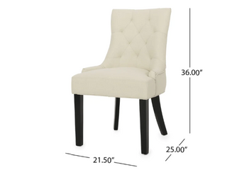 Hayden Contemporary Tufted Fabric Dining Chairs set of 2 NO lEGS by Christopher Knight Home