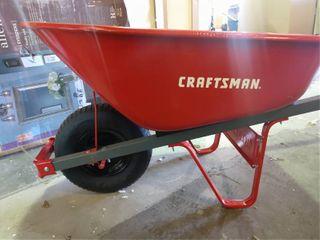 Craftsman Red Metal Wheel Barrel 6 cft
