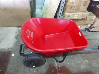 Craftsman Red Two Wheel  Wheel Barrel 6 cft