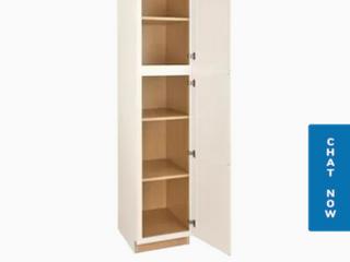 Arcadia 18 in W x 84 in H x 23 75 in D Truecolor White Door Pantry Stock Cabinet   Set of 3
