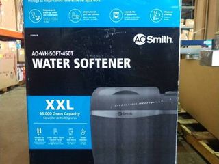 AO Smith XXl Water Softener 45 000 Grain Capacity   sold as is