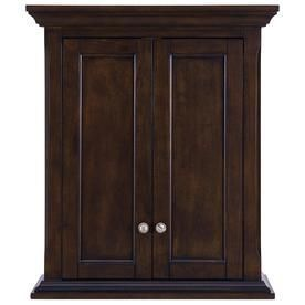 Scott living Roveland 24 in W x 28 in H x 10 in D Mahogany Bathroom Wall Cabinet