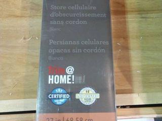 No Hardware  Allen Roth Blackout Cordless Cellular Shade White 26 1 2 a X 64  Cordless