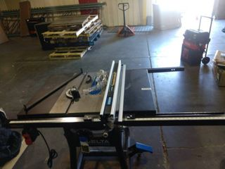 Delta T Square Table Saw   Tested and powers on