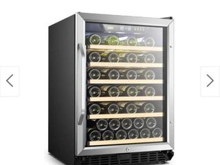 lanbo Built in Compressor Wine Cooler with Reversible Door 52 Bottles   see damage