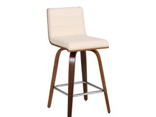 Carson Carrington Skara 26 inch Swivel Counter Height Barstool in Walnut Wood Finish with PU Upholstery  Retail 147 99