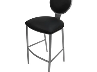 Extra tall 35 inch stainless steel bar stool