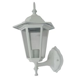 Portfolio 13 25 in H Matte White Outdoor Wall light   As Is see photos