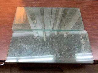 6 glass shelves