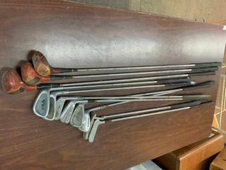 Vintage golf clubs and irons