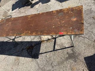 6ft x 18 1 2  wooden table
