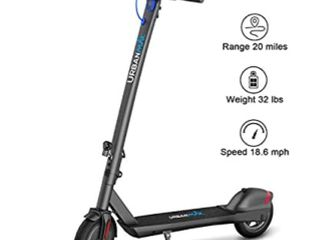 URBANMAX 380W Electric Scooter  Up to 20 Miles   18 6 MPH  8 5  Tires  3 Adjustable Speeds Electric Scooter for Adult with Double Braking System