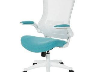 Office Star Products White Screen Back Manager Chair  Blue