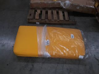 large yellow outdoor seat cushion