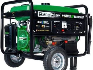 Duromax XP4850EH Dual Fuel Propane Gas Powered Portable Electric Start Generator  4850 watt