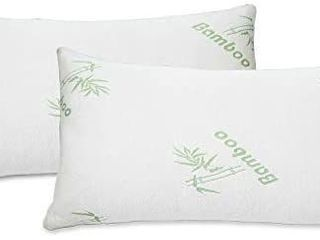 2 PACK Bamboo Pillow Memory Foam Hypoallergenic Cool Comfort