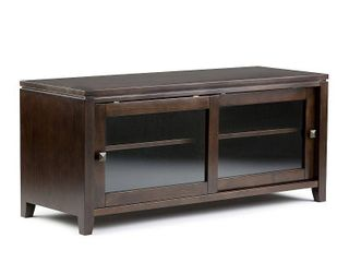 Simpli Cosmopolitan Wood 48 W TV Media Stand For TVs upto 50  in Mahogany Brown