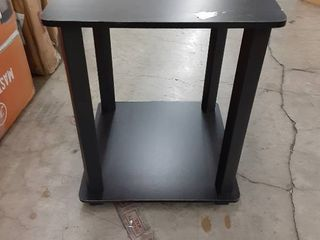 Small Black Wooden End Table