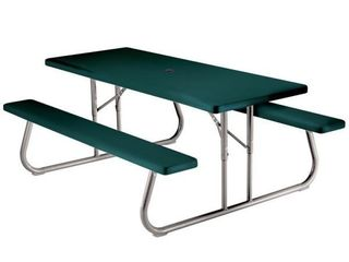 Green Plastic Picnic Table