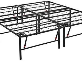 AmazonBasics Foldable  18  Metal Platform Bed Frame with Tool Free Assembly  No Box Spring Needed   King