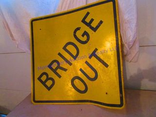 BRIDGE OUT SIGN