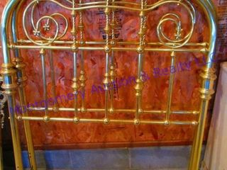 BRASS PlATED HEAD   FOOTBOARD