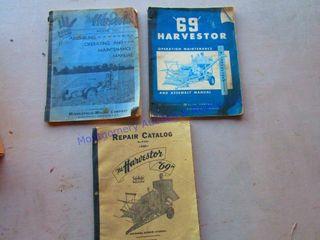 69 HARVESTOR MANUAlS