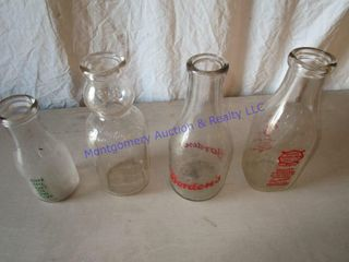 MIlK BOTTlES W  ADVERTISING
