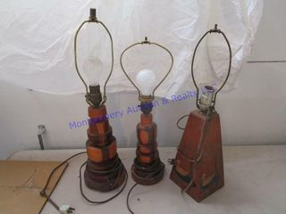 WOOD BASE lAMPS