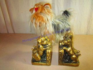 BRASS PUPPY BOOK ENDS