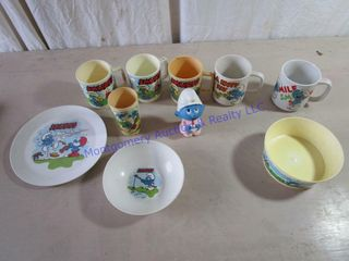 SMURF CHIlDS DINNERWARE