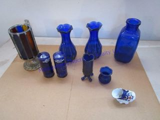 BlUE GlASS ITEMS