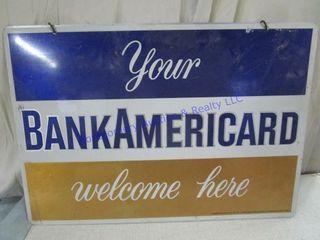 BANKAMERICARD SIGN