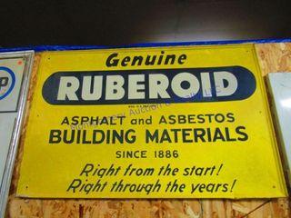 RUBEROID SIGN
