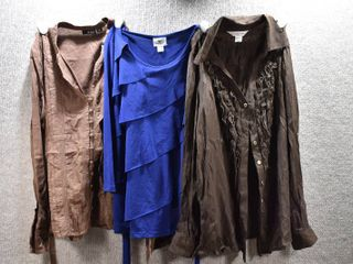lot of 3 Womens Clothes   Christopher Banks Women s Shirt Size S  A N A  Women s Shirt Size S  Worthington Women s Shirt Size S
