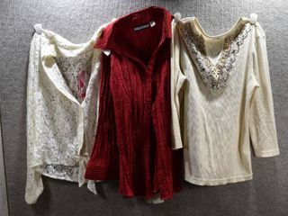lot of 3 Womens Clothes   Cato Women s Shirt Size M  Candie s Women s Shirt Size M  Croft   Barrow Women s Shirt Size M