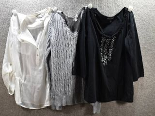 lot of 3 Womens Clothes   Christopher Banks Women s Shirt Size S  I N  Studios Women s Shirt Size S  St John s Bay Women s Sweater Size S