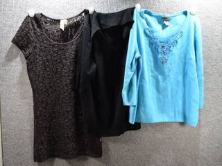 lot of 3 Womens Clothes   BKE Women s Shirt Size M  Designers Women s Shirt Size M  Nine   Company Women s Shirt Size M
