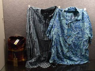 lot of 3 New w  Tags Big   Tall Mens Clothes   Casuals Dress Shirt Size Xl  Caribbean Dress Shirt Size Xl  Nautica Dress Shirt Size Xl