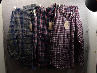 lot of 3 New w  Tags Big   Tall Mens Clothes   Casuals Flannel Shirt Size 2X  Casuals Flannel Shirt Size 2X  Casuals Flannel Shirt Size 2X