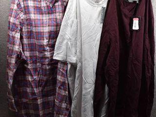lot of 3 New w  Tags Big   Tall Mens Clothes   Murano T Shirt Size 2X  Van Heusen T Shirt Size 2X  Nautica Dress Shirt Size 2X