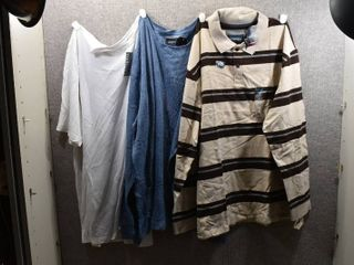 lot of 3 New w  Tags Big   Tall Mens Clothes   St John s Bay Pull Over Shirt Size 3X  St John s Bay Polo Size 3X  Van Heusen Pull Over Shirt Size 3X