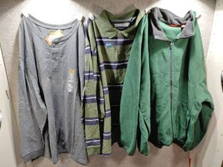 lot of 3 New w  Tags Big   Tall Mens Clothes   St John s Bay Polo Size 4X  Izod Pull Over Jacket Size 4X  Foundry Pull Over Size 4X