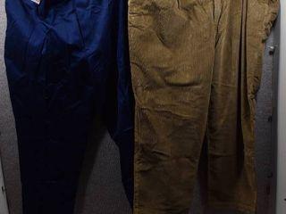 lot of 2 New w  Tags Big   Tall Mens Clothes   Roundtree   Yorke Slacks Size 52x30  Roundtree   Yorke Slacks Size 52x30