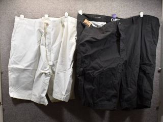 lot of 2 New w  Tags Big   Tall Mens Clothes   Cargo Shorts Size 52  Clairborne Shorts Size 52