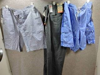lot of 2 New w  Tags Big   Tall Mens Clothes   Cremieux Swim Trunks Size 38  Dockers Slacks Size 38x32 Polo Shorts Size 36