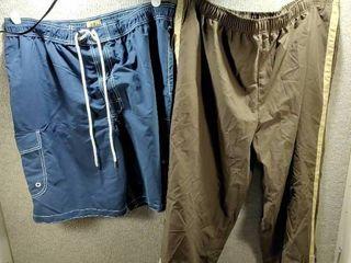 lot of 2 New w  Tags Big   Tall Mens Clothes   Sport Pants Size 2X  Foundry Swim Trunks Size 2X