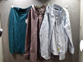 lot of 3 New w  Tags Mens Clothes   Kenneth Cole Dress Shirt Size M  Boss T Shirt Size M  Stafford Dress Shirt Size M