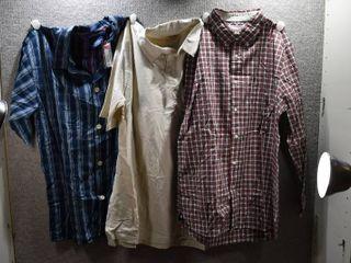 lot of 3 New w  Tags Big   Tall Mens Clothes   Ralph lauren Dress Shirt Size l  Stafford Dress Shirt Size l  Foundry Dress Shirt Size lT